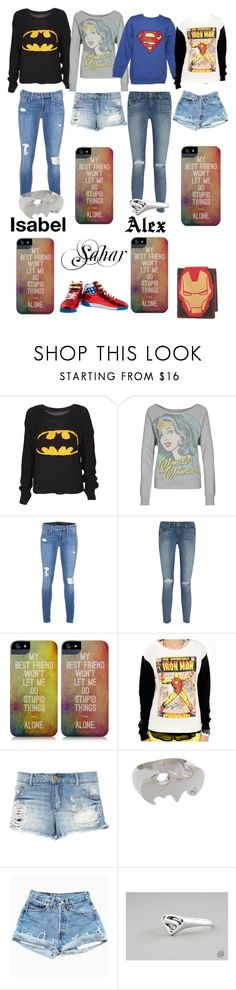 """""""Superhero BFFS"""" by teamdamon1 ❤ liked on Polyvore featuring ONLY, Genetic Denim, Paige Denim, Fabric Flavours, Forever 21, Pull&Bear, Hot Topic and Marvel"""
