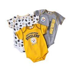 NFL Infant Boy's Body Suit 3-Pack - Steelers