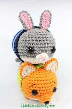 PATTERN 2-PACK: Judy Hopps and Nick Wilde Zootopia Tsum Tsum
