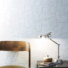 Papier peint vinyle expansé sur intissé Checker blanc