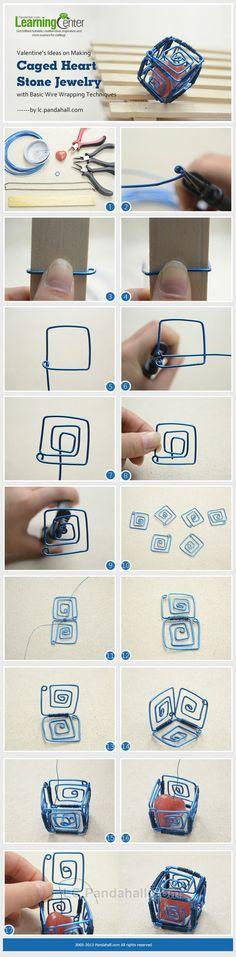 awesome DIY Bijoux - Caged Stone Jewelry ~ Wire Jewelry Tutorials...