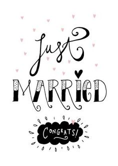 Kaartje Just married congrats! Wedding Quotes, Wedding Humor, Wedding Wishes, Wedding Shower Cards, Wedding Cards, Diy Wedding, Just Married Quotes, Marriage Cards, Country Wedding Cakes