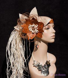 Authentic Tapa Cloth Niua Coconut Fibers by TiareOPatitifa on Etsy Hawaiian Themed Outfits, Headdress, Headpiece, Tahitian Costumes, Thing 1, Dress Hairstyles, Fashion Decor, Hula, Fabric Flowers