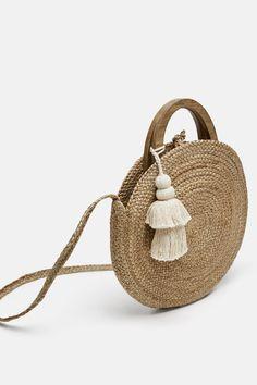 5c085b7ea9 Image 3 of ROUND RAFFIA BASKET BAG from Zara Round Bag