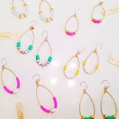 Candy Colored Hoops by Mere #candy #brightcolors #jewelry #merejewelry #kkbloomboutique #summercolors #love