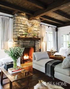 Living Room Reno: Inspiration, Gameplan and a Fireplace Mantel | Jenna Sue Design Blog