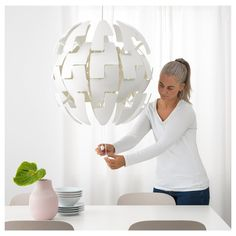 IKEA PS 2014 white, Pendant lamp, 52 cm - IKEA Ikea Ps 2014, Sphere Light, Clear Light Bulbs, Ikea Ceiling Light, Ceiling Lights, Mood Light, Home, Homes