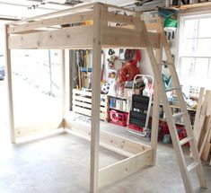 diy loft beds for small rooms & diy loft bed ; diy loft bed for kids ; diy loft bed for adults ; diy loft beds for small rooms ; diy loft bed with desk ; diy loft bed for kids how to build ; diy loft bed for kids small room Build A Loft Bed, Loft Bed Plans, Murphy Bed Plans, Bunk Beds With Stairs, Kids Bunk Beds, Loft Bunk Beds, Loft Beds For Small Rooms, Small Loft, Bedroom Small