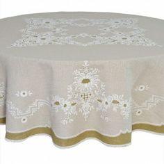 Toalha de mesa redonda em linhão 1,75m