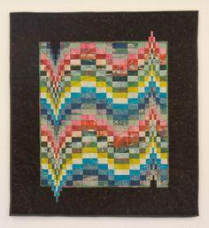 Bargello quilt by Ineke Poort (Netherlands) : voor Mireille,  Bargello van Paapjesstoffen, 85 x 125 cm, 1999
