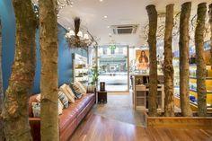 Wooden Salon Interior Theme
