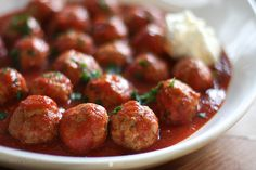 Delicious Italian turkey meatballs, all made in the slow cooker. No baking or frying required!
