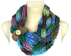 Girlfriend Gift Knitted Necklace Scarf Valentines by LocoTrends