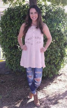 Picture of Blush babydoll Tunic Top (blush)