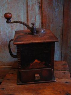Antique 1800's Primitive Coffee Grinder