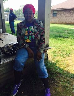 blacksnobbery:  tashabilities:  midnightjazz:  For the blackout I give you my 95 year old great grandma. Yes, 95. Lives by herself, raises chickens, cows, perfect aim with the shotgun and talks more shit than necessary. Look at the seated pose though. That A1 posture. Those fashions though. Ninja Turtle shirt, with the flower and stripe blazer my god.   Lord, bless every hair on her precious head.  My goal is to be this cool at the age of 95