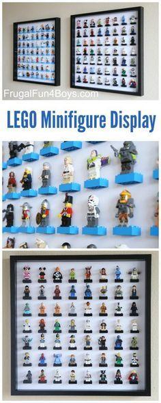 IKEA Frame LEGO Minifigure Display and Storage