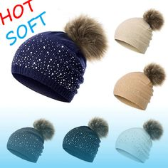 73b0c2c4788 Evrfelan Hot Beanie Knit Hat Cap Slouchy Warm Winter Women Thick Color   fashion  clothing  shoes  accessories  womensaccessories  hats (ebay link)