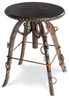 """Wild Bill Roundhouse 18"""" Table - eclectic - side tables and accent tables - Crow's Nest Trading Co."""