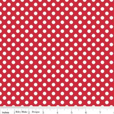 Riley Blake Designs - Cotton Dots Small - Small Dots in Red
