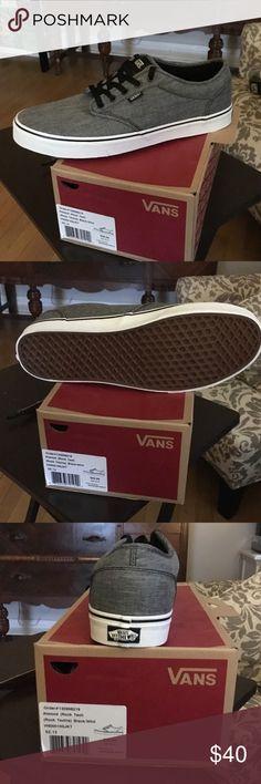 Men s vans shoes Brand new mans grey vans shoes Vans Shoes 367c238a04