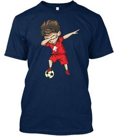 4876b2fbb Football 2018 World Soccer Switzerland T-Shirt Front Dubbing Switzerland  football team supporter Shirt