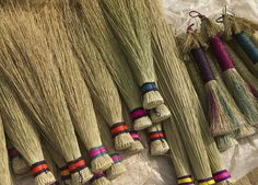 Hand-made grass brooms in Swaziland.