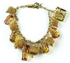 Citrine Charm Bracelet