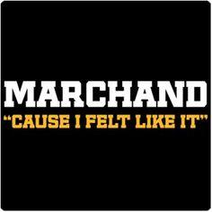 Marshand- Cause I Felt Like It T-Shirt. You got to love the our speedy little ball of hate! Hockey Teams, Ice Hockey, Hockey Stuff, Hockey Mom, Boston Sports, Boston Red Sox, Tim Thomas, Dont Poke The Bear, Brad Marchand