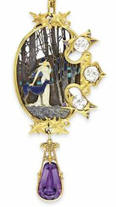 Rene Lalique Jewelry Pendant. e was a notable figure in the world of jewelry and fashion in Paris. He was designing jewelry for his famous patron, Sarah Bernhardt, he exhibited at the Salon of 1895