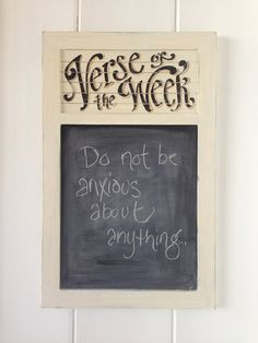 Verse of the Week Chalkboard vintage lettering frame by kijsa Housman