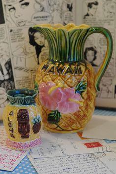 Vintage kitsch Hawaii Pineapple Jug by alltheseprettythings, £10.00