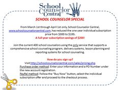Special offer from School Counselor Central