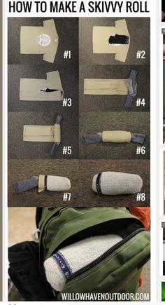 Smart sätt att vika kläder för en dag.
