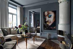 decordemon: Brahegatan 3B, Nordic elegant blue