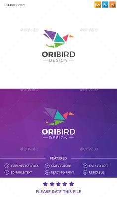 Bird Logo — Photoshop PSD #colored bird #geometric bird • Available here → https://graphicriver.net/item/bird-logo/15125761?ref=pxcr