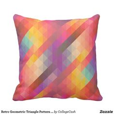 Rest your head on one of Zazzle's Abstract decorative & custom throw pillows. Add comfort and transform any couch, bed or chair into the perfect space! Designer Pillow, Designer Throw Pillows, Decorative Throw Pillows, Triangle Pattern, Cool Items, Accent Pillows, Objects, Retro, Abstract