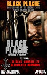 Black Plague Album Release Show/ Confessions of the Subconscious 16 April at 8:00 The Coffee Pot Roadhouse