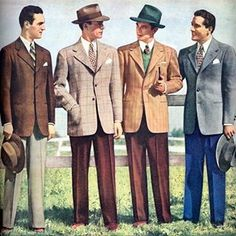 1940s mens casual suits