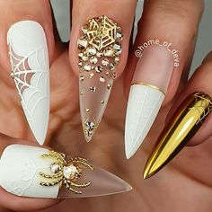 """""""your success is our reward"""" – Ugly Duckling Nails Inc. – Nails, You can collect images you discovered organize them, add your own ideas to your collections and share with other people. Halloween Nail Designs, Halloween Nail Art, Halloween Magic, Halloween Parties, Nail Swag, Nails Inc, Bling Nails, Stiletto Nails, Coffin Nails"""
