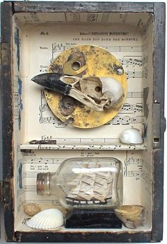 assemblage art 'the mighty' by mylittlelovebox on Etsy