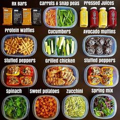 15 images about healthy snack and lunch ideas on We Heart It Lunch Meal Prep, Easy Meal Prep, Healthy Meal Prep, Easy Healthy Recipes, Healthy Cooking, Healthy Snacks, Easy Meals, Healthy Eating, Healthy Weight