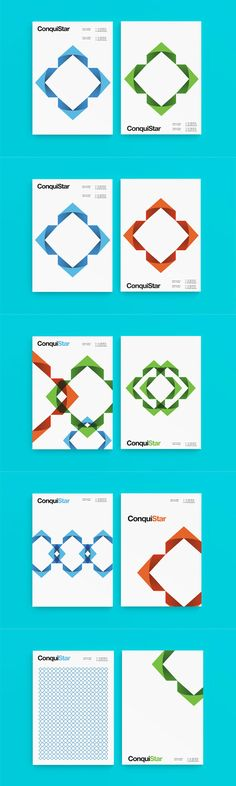 Corporate identity design for investment program ConquiStar. Monterrey, Mexico based branding studio Alan Coria was commissioned to develop a sophisticated