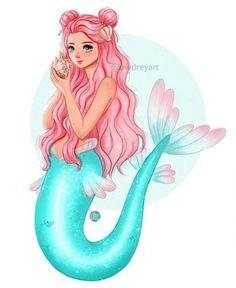 66 trendy drawing ideas mermaid beautiful #drawing Easy Mermaid Drawing, Mermaid Drawings, Disney Drawings, Cartoon Drawings, Easy Drawings, Mermaid Cartoon, Anime Mermaid, Cute Mermaid, Mermaid Art