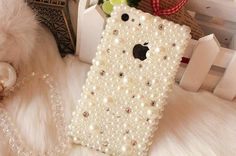 Pretty wedding case Pearl Swarovski crystals iPone Case iPod 4 Case iPhone 4 case iPhone 4s Apple iPhone 5 Case. $19.99, via Etsy.