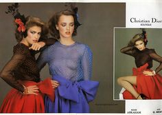 Christian Dior 1979 (Gia Carangi far right & far left)
