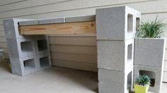 banc outdoor parpaings diy