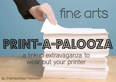 Free Fine Arts Printables #homechool