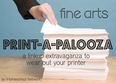 Free Fine Arts Printables #homechool