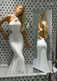 Amazing cut out backless bandage style dress from Pia Michi...also available in red <3